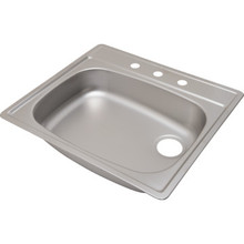 "ADA 21-1/4 X 25"" Single Bowl Kitchen Sink Stainless Steel 4 Hole 5-3/8"" Depth"