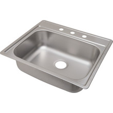 "Aspen 22 X 25"" Single Bowl Kitchen Sink Stainless Steel 3 Hole 8"" Depth"