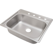 "Aspen 22 X 25"" Single Bowl Kitchen Sink Stainless Steel 4 Hole 8"" Depth"