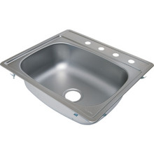 "Aspen 22 X 25"" Single Bowl Kitchen Sink Stainless Steel 4 Hole 7"" Depth"