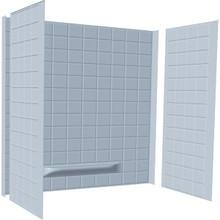 "Tile Bathtub Wall Surround 3-Piece Glue-Up 59x30x60"" White"
