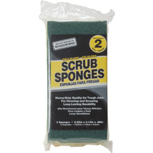 Maintenance Warehouse Green Cellulose Scrubbing Sponge, Package Of 2