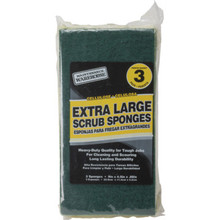 Maintenance Warehouse Large Green Cellulose Scrubbing Sponge, Package Of 3