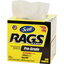 Scott Rags In A Box, Pro-Grade Package Of 200