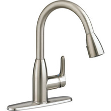 American Standard Colony Soft Kitchen Faucet Stainless Steel 1 Handle Pull-Down