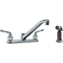 HBC Non-Metallic Kitchen Faucet Chrome Two Handle With Spary