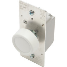 600W Rotary Dimmer Switch - Push On/Off - Single Pole/3-Way - White