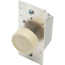 600W Rotary Dimmer Switch - Push On/Off - Single Pole/3-Way - Ivory