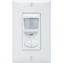 Dual Relay PIR White Wall Switch Occupancy Sensor