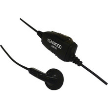 Kenwood EarBud with Inline Push To Talk Microphone and Single Prong for PKT-23K