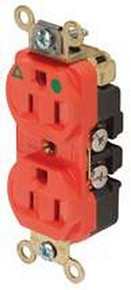 15 Amp Hospital Grade Duplex Receptacle - Orange