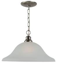 One Light Pendant Fixture Brushed Nickel Alabaster-Style Glass