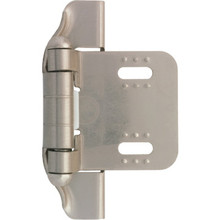 Liberty Hardware 1/4 Semi-Wrap Overlay Hinge Satin Nickel, Package of 12