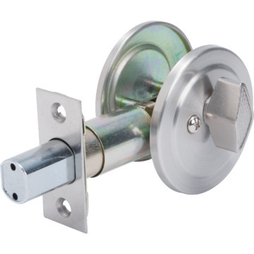 Shield Security Single Sided Deadbolt With Backpalte Satin