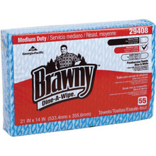 Georgia-Pacific Brawny Dine-A-Wipe Blue & White Foodservice Towel, Case of 330