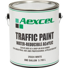 1 Gallon Aexcel Latex Traffic Paint - White