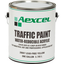 1 Gallon Aexcel Latex Traffic Paint - Yellow