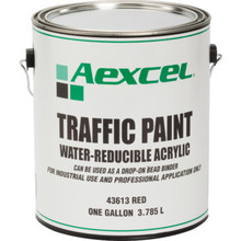 1 Gallon Aexcel Latex Traffic Paint - Red