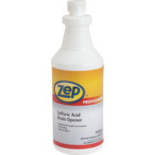Drain Opener, 32 Ounce Zep Sulfuric Acid Case Of 12