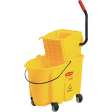 Rubbermaid 26 Qt Side Press Mop Bucket And Wringer