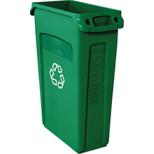 23 Gallon Rubbermaid Slim Jim Green Recycle Trash Can