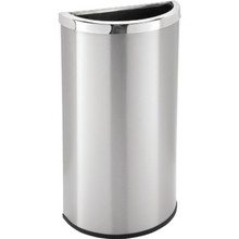 8 Gallon Half- Moon Stainless Steal Trash Can