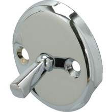 Bathtub Overflow Plate Trip Lever Chrome Finish Spring Clip Mechanism