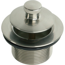 """Drain Assembly Lift And Turn 1-7/8"""" OD 1-1/2"""" ID Coarse Thread Brushed Nickel"""