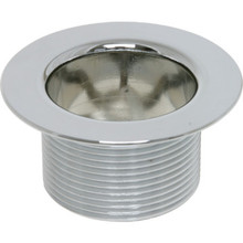 Drain Insert 10-24 Coarse Thread Chrome Plated Metal
