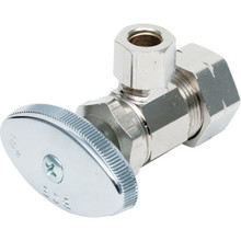 Maintenance Warehouse# Qtr-Turn Angle Stop Valve 1/2 Comp x 3/8 Comp 10/Pkg