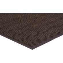 3 x 5' Indoor Floor Mat Dark Brown Apache Chevron Ribbed