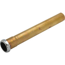 "Brass Tubular Extension 1-1/2"" x 12"" Slip Joint 20-Gauge Rough Brass"