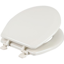 Seasons Wood Round Toilet Seat Standard-Duty Bone