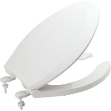 Seasons Plastic Open Front Elongated Toilet Seat Standard-Duty