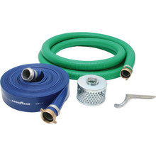 "2"" PVC Suction And Discharge Hose Hit 20' For Use With Honda Transfer Pump"