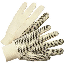 Glove Large General Purpose PVC Dotted Canvas