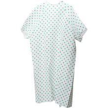 Patient Gown 2.25 Ounce V Neck Blue Print Package Of 12