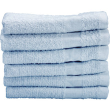 Basic Cotton Plus Wash Cloth Cam 12x12 1 Lb/Dozen Blue Package Of 60