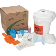 Sharps Biohazard Spill Kit Recovery System