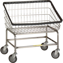 R and B Wire Front Load Laundry Cart Large