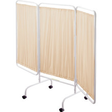 """Privacy Screen Beige 69""""Lx81""""W With Casters"""