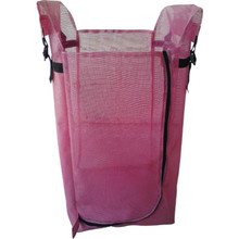 MJM Single Hamper With Foot Pedal 33 Gallon Mauve Mesh