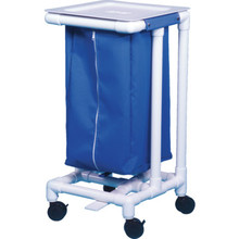 IPU Single Hamper With Foot Pedal 32 Gallon Royal Blue Mesh