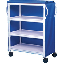 IPU Linen Cart Three-Shelf Royal Blue