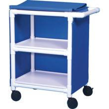 IPU Linen Cart Thin Two Shelf Royal Blue Mesh