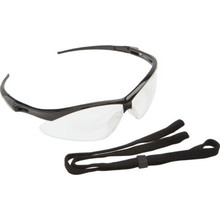 Pyramex PMXtreme Black Frame Clear Anti-Fog Lens With Cord Safety Eyewear