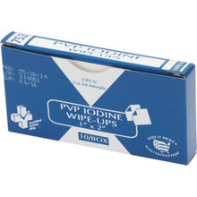 Certified Safety PVP Iodine Wipes Package Of 10