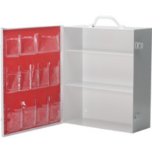 Medi-First Empty 3-Shelf Industrial First Aid Cabinet With Pockets