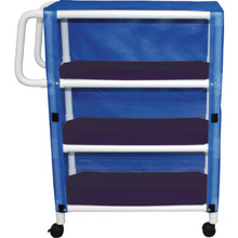 MJM Linen Cart Three-Shelf Royal Blue