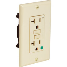 20 Amp Hospital Grade GFCI Receptacle - White